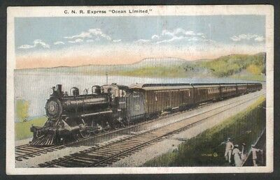 Canadian National Railway CNR Express Ocean Limited postcard 1910s