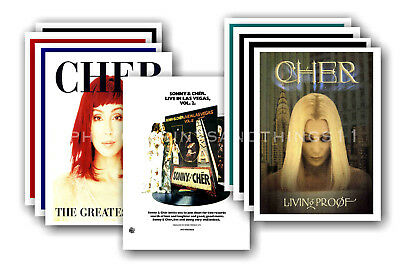 CHER - 10 promotional posters  collectable postcard set # 2