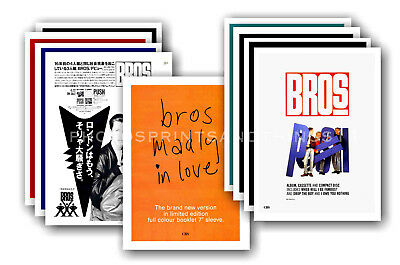 BROS - 10 promotional posters  collectable postcard set # 1