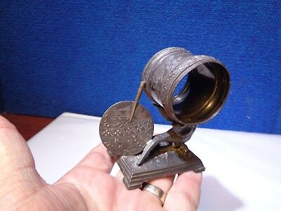 Antique Derby Silverplate Figural Napkin Ring Holder With Bird