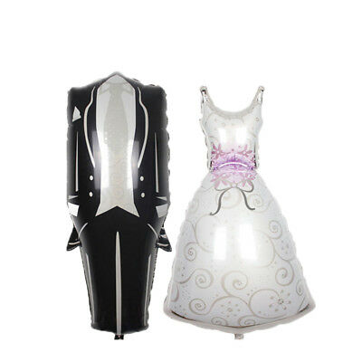 Foil Helium Balloon Bride Dress Groom Tuxedo Wedding Engagement Party Decoration