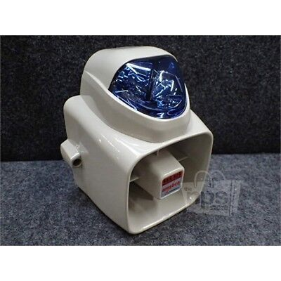 Amseco SSX-52S Durabe Self-Contained Siren with Blue Strobe Light, 12VDC