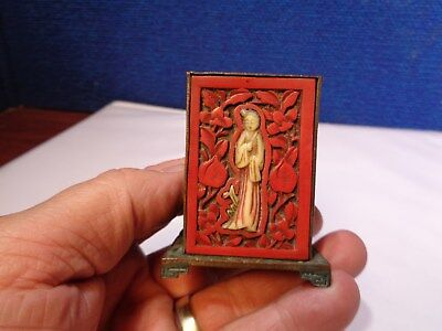 Antique Figural Chinese Match Box Holder