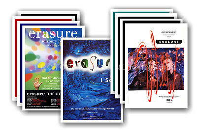 ERASURE - 10 promotional posters  collectable postcard set # 2