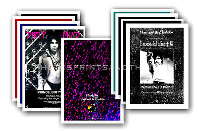 PRINCE - 10 promotional posters  collectable postcard set # 9