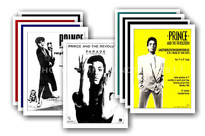 PRINCE - 10 promotional posters  collectable postcard set # 10