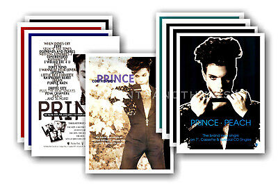 PRINCE - 10 promotional posters  collectable postcard set # 12