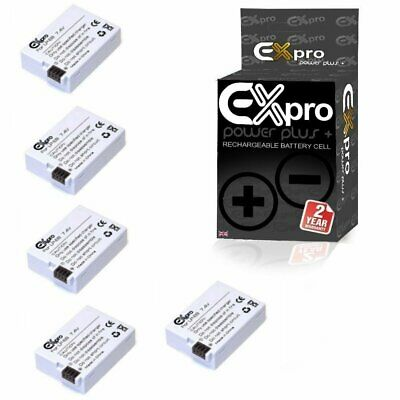 Ex-Pro Digital Camera Battery LP-E8 for Canon EOS 550D 600D 650D T2i  [5 PACK]