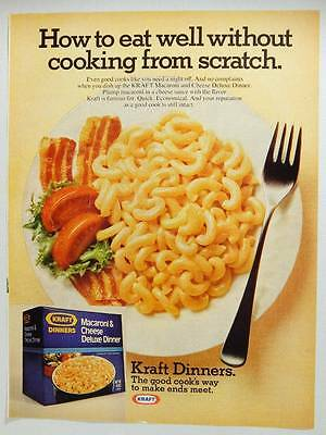 Kraft Macaroni and Cheese Deluxe Dinner Vintage Magazine Ad Page - 1977