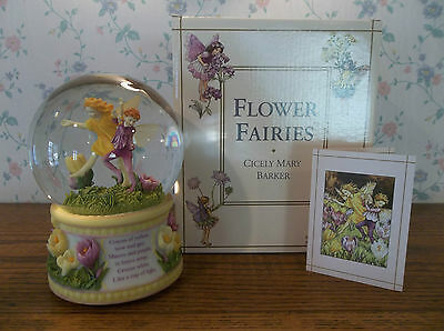 San Francisco Music Box Cicely Mary Barker Flower Fairies Musical Snow Globe