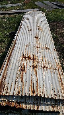 **used White Painted Reclaimed Corrugated Metal Roofing**