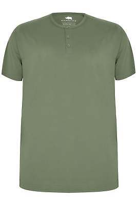 0f77ebd192ba BADRHINO PLUS SIZE Mens Cotton Short Sleeve Crew Neck T Shirt Tee Top Khaki  - EUR 12