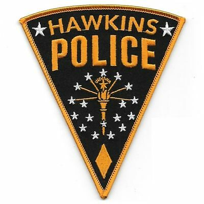 Stranger Things Hawkins Police Iron On Patch Hopper Cosplay/Fancy Dress Badge Ap
