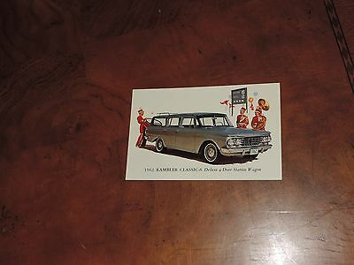 Vintage Postcard Rambler Classic 6 Station Wagon Car Advertising (pt251)