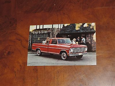 Vintage Postcard 1967 F-100 Ranger Pickup Truck Car Advertising (pt254)