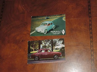 Vintage Postcard Lot Renault car Sedan Dauphine (pt247)
