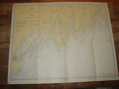 Monhegan Island to Cape Elizabeth Old Working 1948 Nautical Chart USC &GS