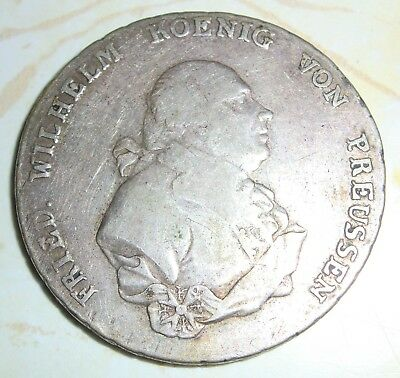 PRUSSIA GERMANY 1793 A SILVER THALER German States