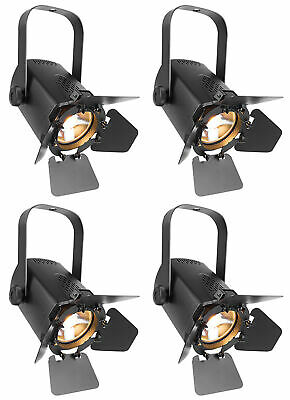 (4) Chauvet DJ EVE TF-20 LED Fresnel Accent Par Can Lights w/Dimmers, Barn doors