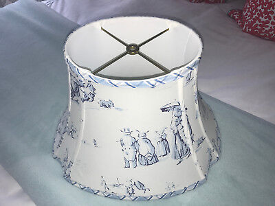 Bunny Business by Brunschwig and Fils Bluebell Fabric Lamp Shade