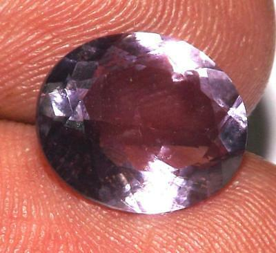 3.80 cts Natural Earth Mined Amethyst 12 x 10 mm Gemstone #eam1226