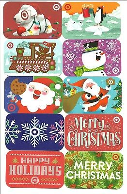 lot 10 target spot penguin snowman christmas gift cards no value collectible - Target Photo Christmas Cards
