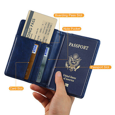 RFID Blocking Travel Passport Cash Pocket & Credit Card Protector Holder WALLET