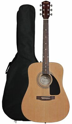 NEW Fender FA-100 Full Size Dreadnought Acoustic Guitar with Gig Bag #0971110121