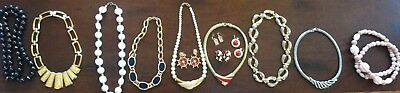 Vintage Lot Of 13 Costume Jewelry Napier Avon, Unbranded Necklaces Earrings