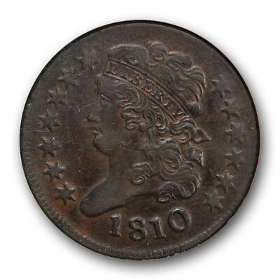 1810 1/2C Classic Head Half Cent NGC AU 55 About Uncirculated to MS
