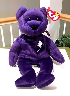 Ty Beanie Baby PRINCESS the (Diana) Bear from 1997-RARE & RETIRED NEW MINT