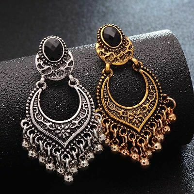 Boho Retro Gold/Silver Plated Charm Tassel Drop Dangle Earrings Women Jewelry