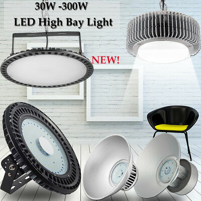 UFO LED High Bay Light 300W 200W 150W 100W Warehouse Factory Industrial Fixture