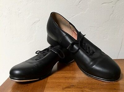 Bloch Adult Tap Techno Tap Shoes Black Leather Upper Lace Up Womans Size 11M
