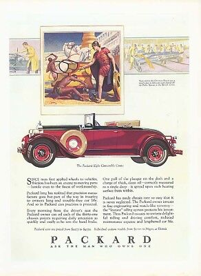 Since man first applied Packard Convertible Coupe ad 1928 House & Garden