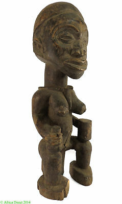 Yombe Female Holding Cup and Gourd Congo African Art