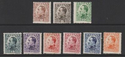 Spain - 1930/31, 2c - 50c King Alfonso XIII stamps - M/M - SG 583/92