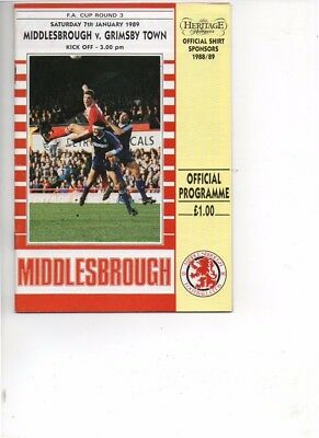Middlesbrough v Grimsby Town 1988/89 FA Cup 3rd round