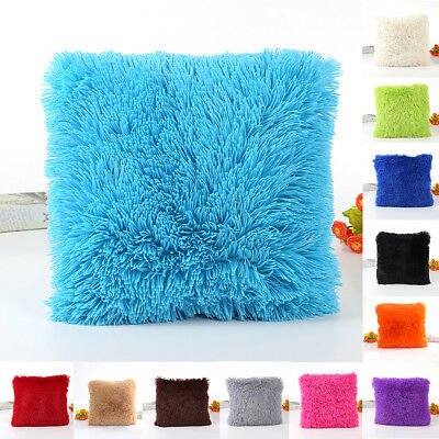 Fluffy Plush Pillow Case Soft Cases Housewife Pillow Cover Sofa Home Cushion Hot
