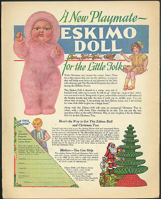 A New Playmate Eskimo Doll for Little Folks Household Magazine ad 1930