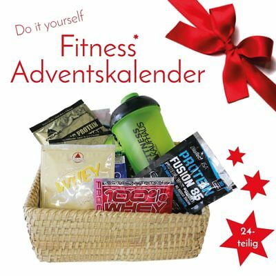 Do It Yourself Samples Fitness Adventskalender 24 tlg mit Protein Eiweiss Shaker
