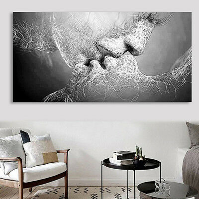 Love Kiss Abstract Canvas Print Wall Art Painting Picture Poster Home Decor