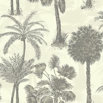 Sophie Conran Coconut Grove Palm Tree Wallpaper 950609 Natural Feather Cream