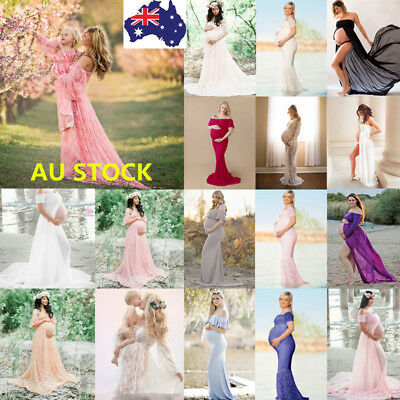 39 Styles Pregnant Women Lace Dress Maternity Maxi Gown Dress Photography Props