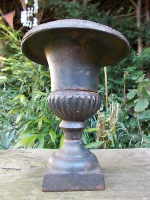 Decorative Antique Cast Iron Urn~Planter~French Chateau~Shabby Chic