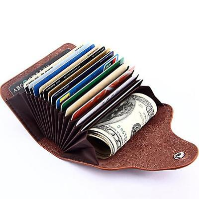 New Mens Leather Credit Card Note Holder Wallet Purse ID Case CB