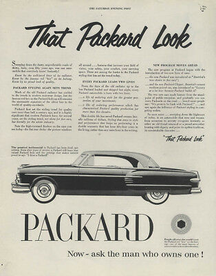 That Packard Look - Pacific Hardtop ad 1954 Saturday Evening Post