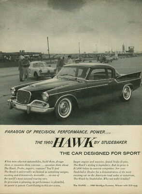 Paragon of precision performance power Studebaker Hawk ad 1960 TIME