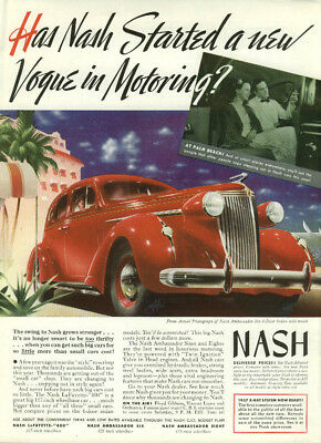 Has Nash Started a new Vogue in Motoring? Ad 1937 Ambassador Six