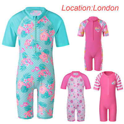 UK Warehouse Girls UV50+ Sun Protection Surfing Bath Swimwear Swimming Costume